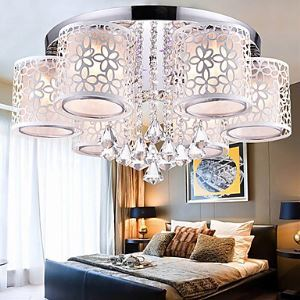 Flush Mount Crystal Modern  Contemporary Living Room  Bedroom  Dining Room  Study Room  Office Metal