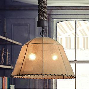Retro 1 Lamp Hemp Rope Chandelier Retro Country Style