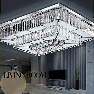 Flush Mount LED Modern  Contemporary Living Room  Bedroom  Dining Room  Study Room  Office Glass
