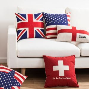 American Country Flags Sofa Office Linen Cushion Cover Pillow Cover