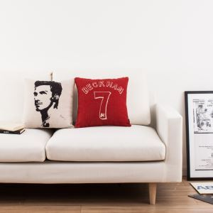 Modern Simple Football Beckham Sofa Office Linen Cushion Cover Pillow Cover