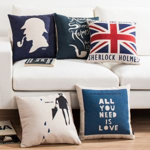 Sherlock Sofa Office Linen Cushion Cover Pillow Cover