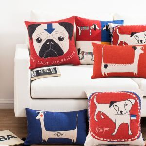 Modern Simple Cartoon Animals Sofa Office Linen Cushion Cover Pillow Cover 5 Designs for Christmas Holiday Decor Christmas Pillow Christmas Gifts