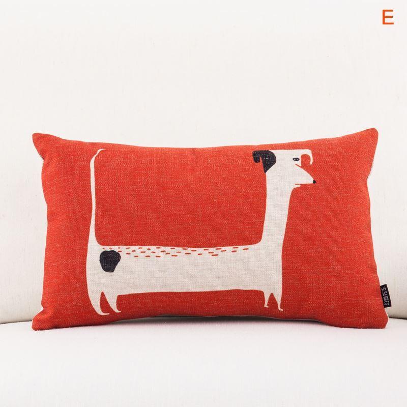 Gifts - Christmas Supplies - Modern Simple Cartoon Animals Sofa Office Linen Cushion Cover ...