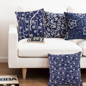 Classic Blue & White Porcelain Sofa Office Linen Cushion Cover Pillow Cover
