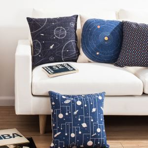 Starry Sky Geometric Designs Sofa Office Cushion Cover Pillow Cover 5 Designs