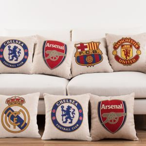 Modern Simple Football Badge Sofa Office Cushion Cover Pillow Cover 5 Deigns