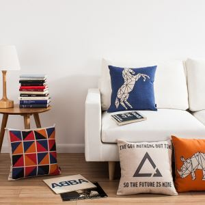 Creative Geometric Design Sofa Office Cushion Cover Pillow Cover 4 Designs