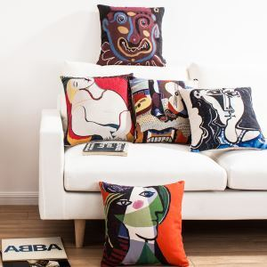 Picasso's Masterpiece Sofa Office Linen Cushion Cover Pillow Cover