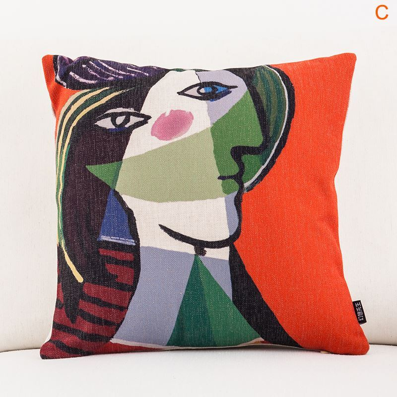 Fashion Pillow Case Picasso's Masterpiece Sofa Office