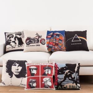 Vintage Classical Music Records Sofa Office Linen Cushion Cover Pillow Cover