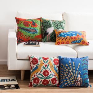 Modern Simple Ukraine Masterpiece Sofa Office Linen Cushion Cover Pillow Cover for Christmas Holiday Decor Christmas Pillow Christmas Gifts