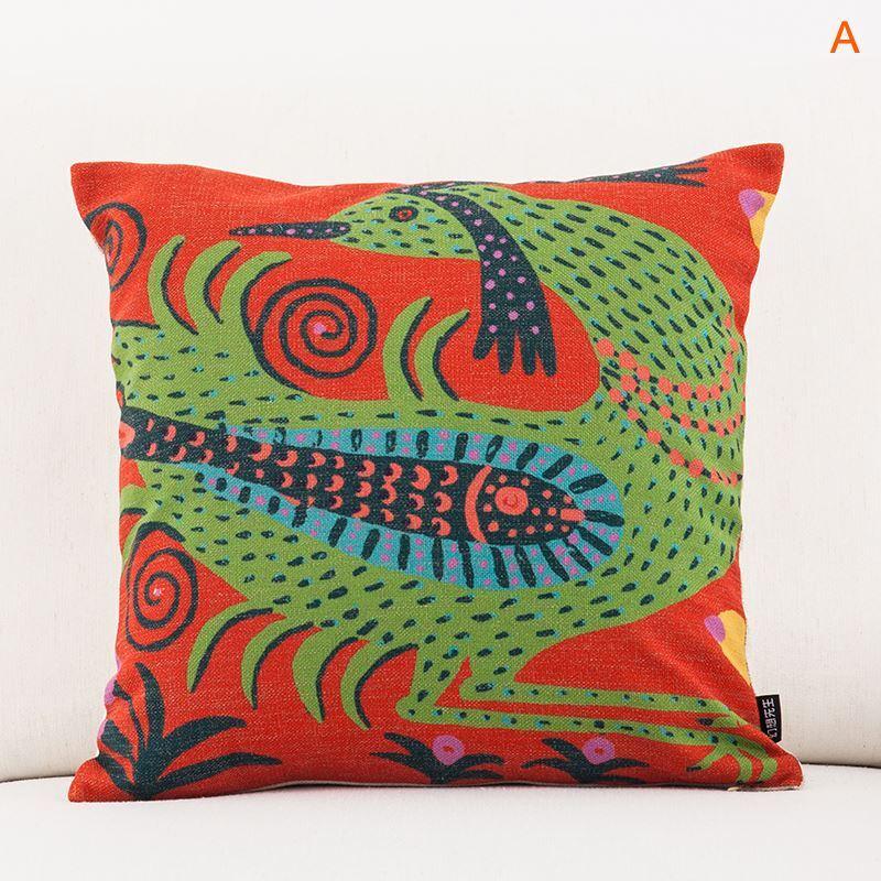 Modern Christmas Pillow : Gifts - Christmas Supplies - Modern Simple Ukraine Masterpiece Sofa Office Linen Cushion Cover ...