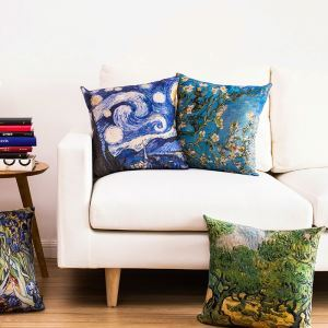 Vintage Van Gogh Painting Sofa Office Cushion Cover Pillow Cover