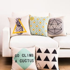 Modern Simple Unique Geometric Designs Sofa Office Cushion Cover Pillow Cover for Christmas Holiday Decor Christmas Pillow Christmas Gifts