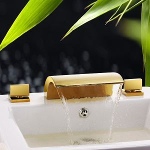 Vintage Ti-PVD Bathtub Faucet 3 Holes Installation