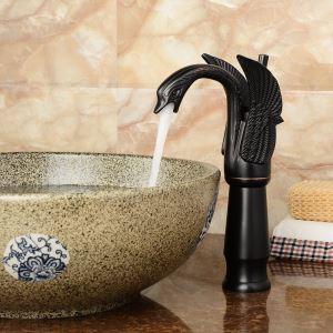 Antique Oil-rubbed Bronze Black Single Handle Sink Faucet