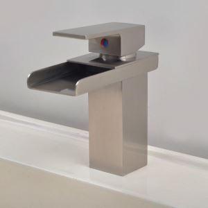 Antique Brush Silver Single Handle Sink Faucet