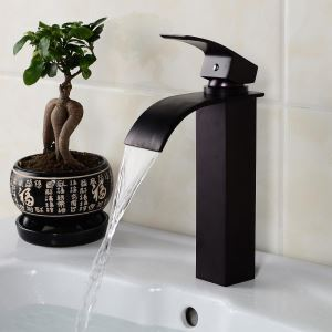 Modern Oil-rubbed Bronze Black Single Handle Sink Faucet
