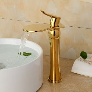 Modern Electroplating Titanium Single Handle Sink Faucet
