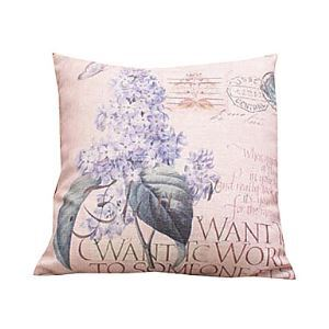 1-Piece Decorative Pillow Set in Cotton/Linen with Filling(18*18in)