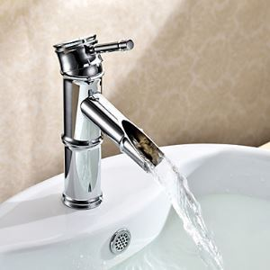 Bathroom Sink Faucets Art Deco / Retro Brass Chrome