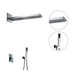 Shower Faucet Contemporary Handshower Included / Rain Shower Brass Chrome