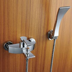 Shower Faucet / Bathtub Faucet - Contemporary - Handshower Included - Brass (Chrome)