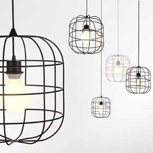 Mini Artistic Birdcage Pendant Lamp  1 Light  Mordern Simplicity  Finish Black Chandelier White  Metal  Carbon Steel Droplight Ceiling Lights