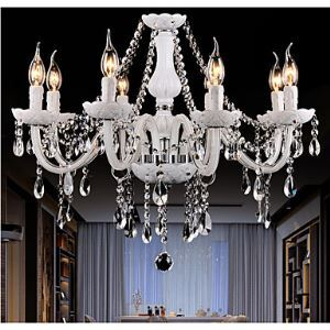 Chandeliers Crystal  Modern  8 Lights   Contemporary Living Room  Bedroom  Dining Room Lighting Ideas  Office  Glass