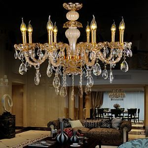 Chandelier Crystal  Zinc alloy Luxury Modern 8 Lights