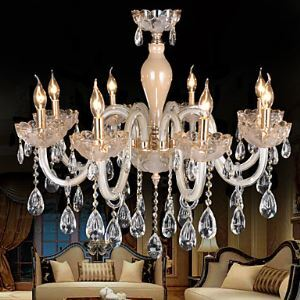 Chandelier  Crystal Chrome color Luxury Modern with 8 Lights