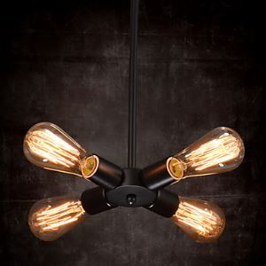 Pendant Light 4 Lights Country Style Wrought Iron