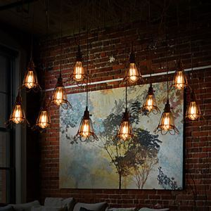 Pendant Light 12 Lights Country Style Wrought Iron(Christmas Cobwebs)