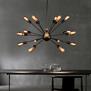 Chandeliers Mini Style Rustic  Lodge  Retro Living Room  Bedroom  Dining Room Lighting Ideas  Study Room  Office Metal