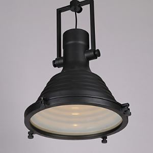 Loft Amercian Countryside Industrial Style Dinning Room Pendant Lamp For Single Black Chandelier Round Shape Indoor Lights