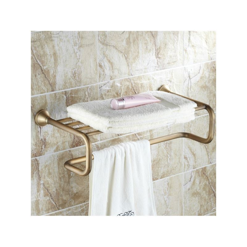Bathroom Towel Bars Antique Brass Bathroom Shelf With Towel Bar