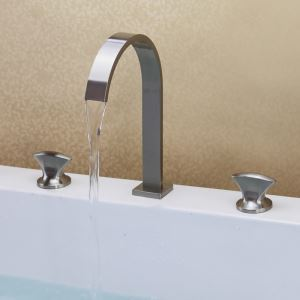 Modern Brush Waterfall Sink Faucet