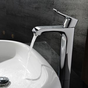 Modern Fashion Chrome Sink Faucet Long Height Design