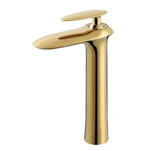 Modern Fashion Golden Sink Faucet Long Height Design