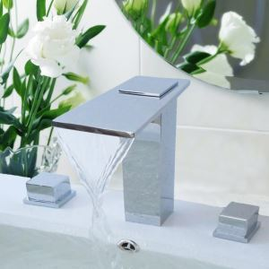 Modern Chrome Waterfall Sink Faucet