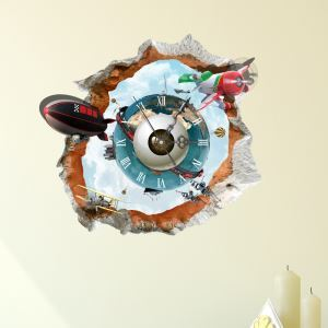Modern Simple Creative 3D Mysterious Planet Mute Wall Clock