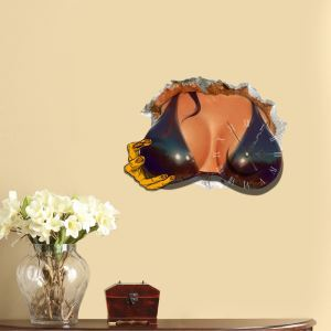 Modern Simple Creative 3D Sexy Bosom Mute Wall Clock with Wall Sticker