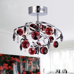 26cm Crystal Pendant Light Chandelier Lamp for Living-Room Luxurious Dining Room Ceiling Lamp