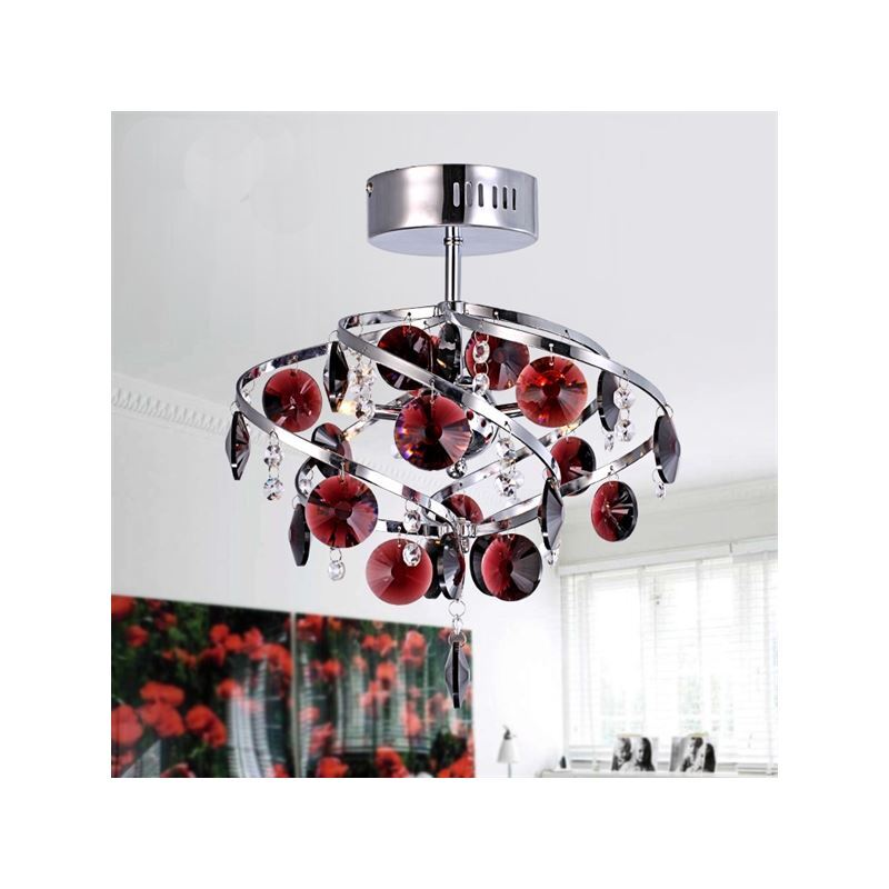 Image of 5W LED 26cm Crystal Pendant Light Chandelier Lamp for Living-Room Luxurious Dining Room Ceiling Lamp