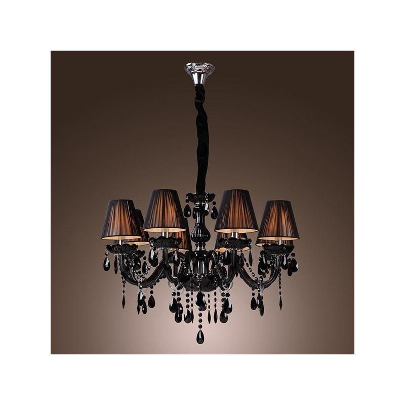 Chandelier Luxury Modern Black Chandelier Crystal Living 8 Lights