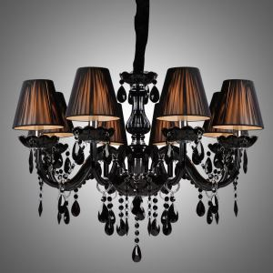Chandelier Luxury Modern Black Chandelier Crystal Living 8 Lights