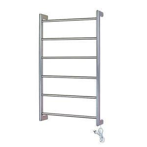 Modern Simple Silver Wall Mounted Stainless Steel Towel Warmer 60W