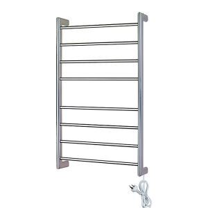 Modern Simple Silver Wall Mounted Stainless Steel Towel Warmer 85W