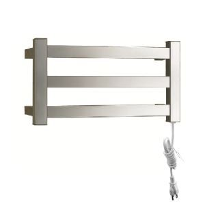 Modern Simple Silver Wall Mounted Stainless Steel Towel Warmer 30W